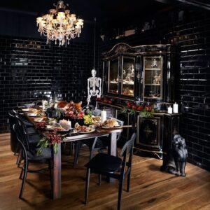 gothic revival themed restaurant interiors