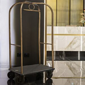 free standing luggage cart at hotel lobby - project by FurnitureRoots