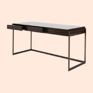 blackwood study table with sleek table base