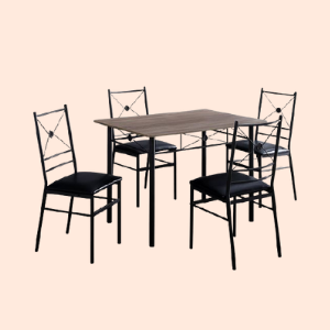 metal chair and table set for mall food courts