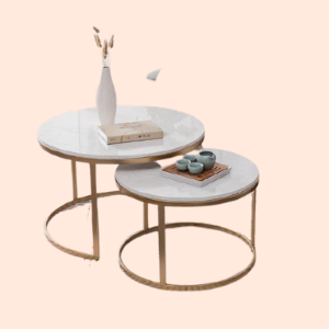 art noveau style nesting lounge tables for commercial hotels