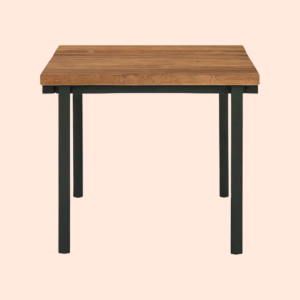 cafe style wooden dining table in outdoor grade wood