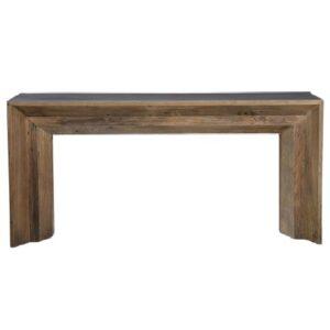 dark, reclaimed wood hospitality decoration table