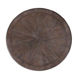 36 inch diameter brownwood round tabletop