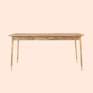 thin legged wooden dining table for hotels and resorts