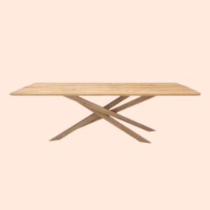 sleek mid century farmhouse dining table