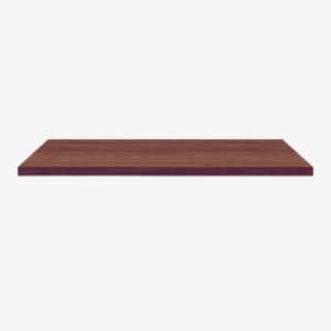 dark, solidwood tabletop
